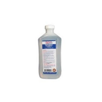 Isopropyl Rubbing Alcohol 91% Antiseptic for Simple Wound Disinfections - 16 Oz/Bottle X 12 Bottles