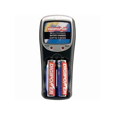 Digipower Rapid Battery Travel Charger with 2AA Re-Chargeable Batteries