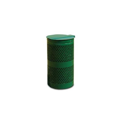 Doggie Deposit DD0010-0006 Doggie Deposit Replacement Metal 10 gal Wastebasket with lid for Dog Poop Waste Stations