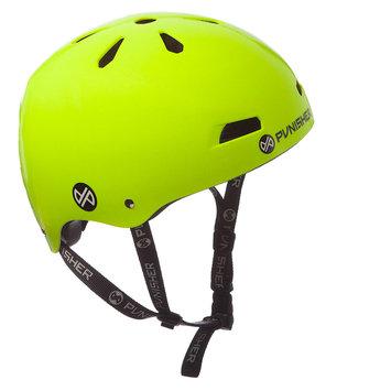 Punisher Skateboards 13-vent Bright Neon Yellow Youth BMX/ Skateboard Helmet