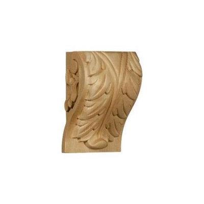 Ekena Millwork 4.5-in x 7-in Maple Acanthus Wood Corbel