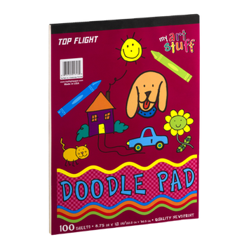 Top Flight My Art Stuff Doodle Pad 100 Sheets