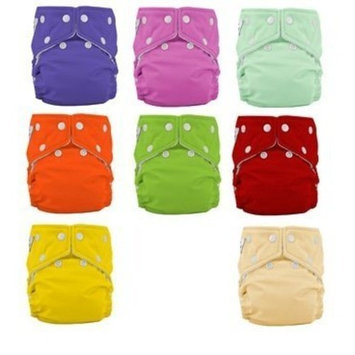 Fuzzibunz Fuzzi Bunz One Size Diaper Package 9 Pack Girl Color