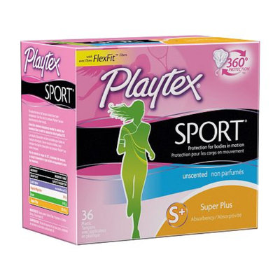 Playtex Sport Tampons Plastic Applicator Unscented