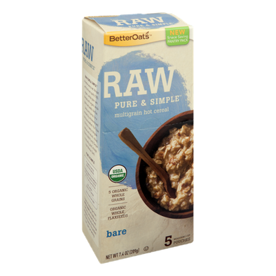 Better Oats Raw Pure & Simple Multigrain Hot Cereal - 5 CT