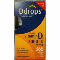 D Drops Liquid Vitamin D3 2000 IU 0.34 fl oz