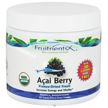 FruitrientsX - Acai Freeze Dried Powder - 90 grams