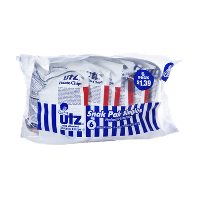 Utz Potato Chips Snak Pak Singles - 6 CT