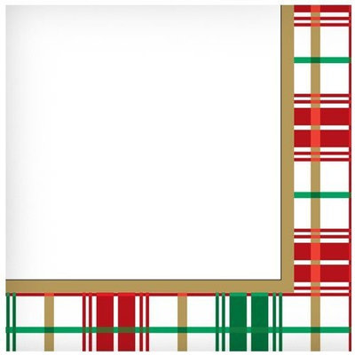 Hanna K Signature Hanna K. Signature 99120 Plaid Christmas Lunch Napkin - 1728 Per Case