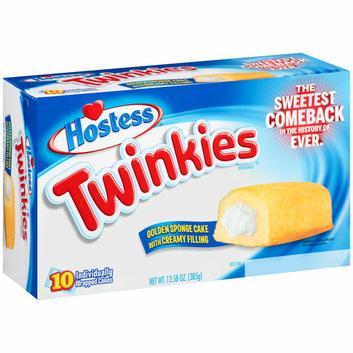 Hostess Twinkies Golden Sponge Cake with Creamy Filling