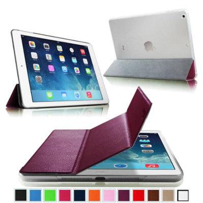 Fintie Semi Transparent Hard Shell Case Cover for iPad Mini 2 (2013 Edition) and Mini (2012 Edition), Purple/Frost