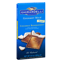 Ghirardelli Gourmet Milk Coconut Rendezvous All Natural Milk Chocolate