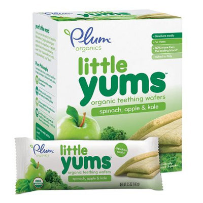 Plum Organics Baby Little Yums Organic Teething Wafers Spinach Apple Kale