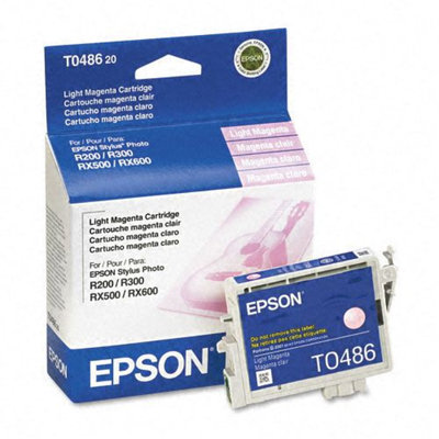 Epson T0486 Light Magenta Ink Cartridge, Epson T048620