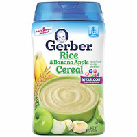 Gerber Rice & Banana Apple Cereal Baby Food