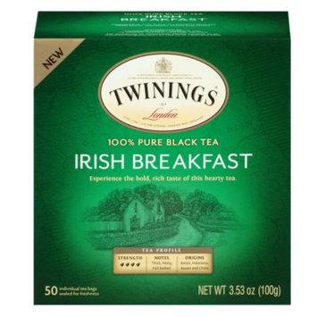 Twinings Irish Breakfast Tea, 50 ea