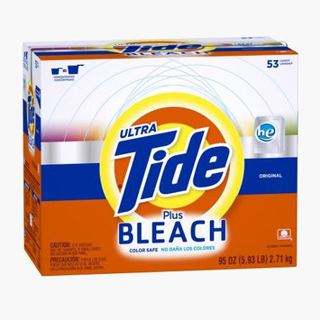 Tide Plus Bleach He Original Scent Powder Laundry Detergent 53 Loads 95 Oz