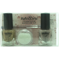Nailtini Champagne Manicure Kit - gold Rush & French Gold
