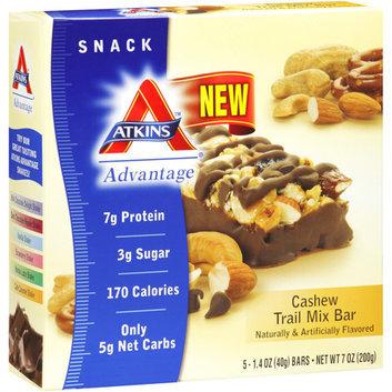 Atkins Advantage Cashew Trail Mix Bars Nutritional Supplement Bars