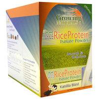 Growing Naturals Organic Rice Protein Isolate Vanilla Blast - 12 Packets