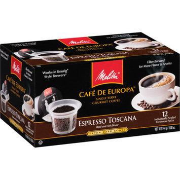 Melitta Cafe de Europa Prefill Capsules Espresso Della Toscano, 12 ea