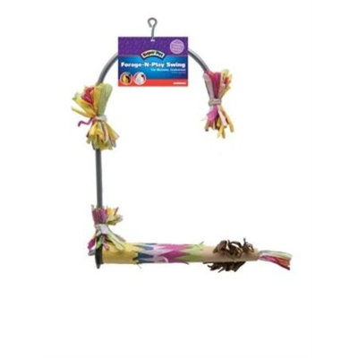 Super Pet Forage-N-Play Swing Bird Cage
