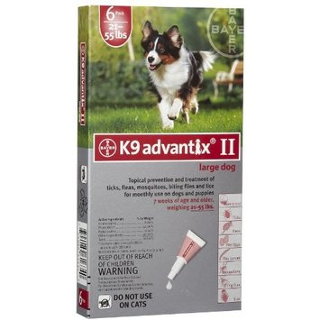 4 MONTH K9 ADVANTIX Red (for dogs 2155lbs)