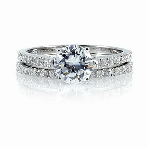 Emitations Deleeses CZ Wedding Ring Set