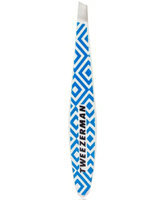 Tweezerman Mix n' Match Runway Print Collection Mini Slant Tweezer - Neon Blue