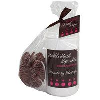 Upper Canada Soap   Candle Upper Canada Soap & Candle Bath Bakery Bubble Bath Sprinkles Gift Set, Strawberry Shortcake Fragrance, 32-Ounce Bottle