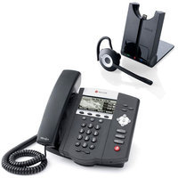 Polycom 2200-12450-025 w/ Wireless Headset SoundPoint IP 450 w/o Power Supply