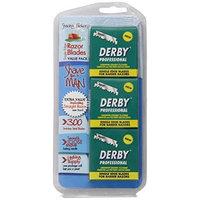 300 Derby Professional Single Edge Razor Blades comes with free Shaving Factory Straight Razor