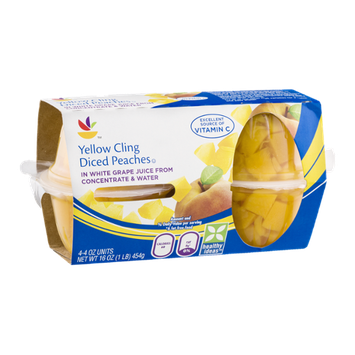 Ahold Yellow Cling Diced Peaches Units - 4 CT