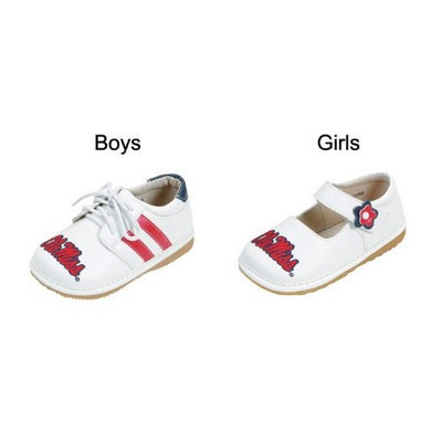 Team Squeaks Mississippi (Ole Miss) Boys & Girls Squeaky Shoes