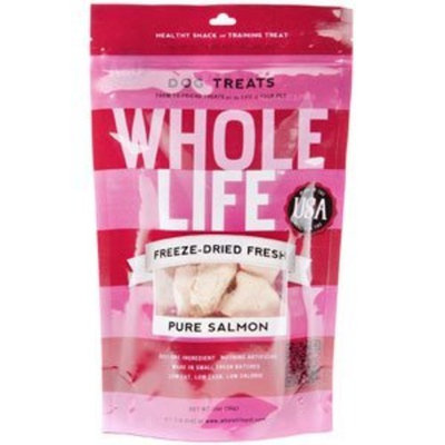 Whole Life Pet Products Whole Life Pet Single Ingredient USA Freeze Dried Salmon Filet Treats for Cats, 1-Ounce