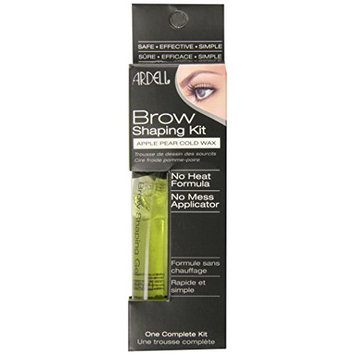Ardell Brow Shaping Kit - Apple Pear Cold Wax, 0.6-Ounce (Pack of 3)