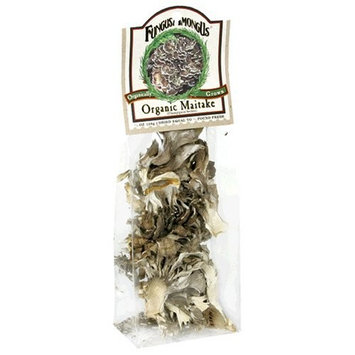 FungusAmongUs Dried Mushrooms, Organic Maitake, 0.5-Ounce Units (Pack of 4)