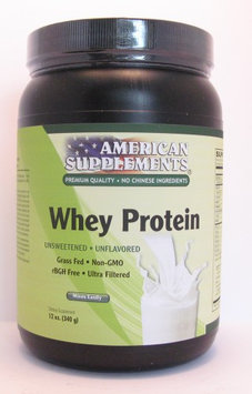 Whey Protein Unflovered No Chinese Ingredients American Supplements 12 oz Powder