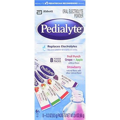 Pedialyte Powder Pack, Variety, 0.3-Ounce, 8 Count