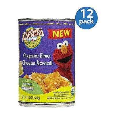 Earth's Best Organic Elmo Cheese Ravioli