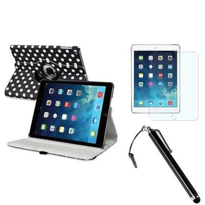 Insten INSTEN Black/White Polka Dot 360 Leather Case Cover+AG Protector/Pen For Apple iPad Air 5 5th