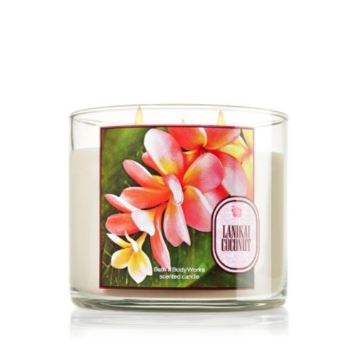 Bath & Body Works Bath & Body Lanikai Coconut 3 Wick Scented Candles 14.5oz
