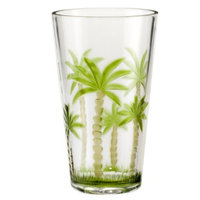 Diligence Inc Palm Tree Acrylic Highball Glasses Set of 4