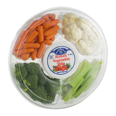 Del Monte® Vegetable Platter with Ranch Vegetable Dip