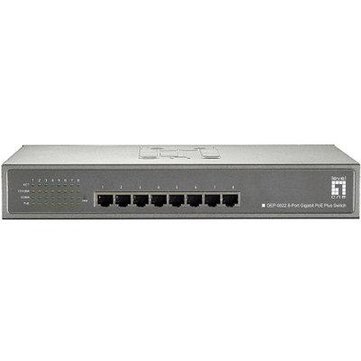CP Technologies LevelOne GEP-0822 8-Port Gigabit PoE Desktop Switch (250W)