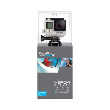 GoPro HERO4 Silver Camera with Touch Display/Wi-Fi/Bluetooth, 12MP, 1080p60, Waterproof