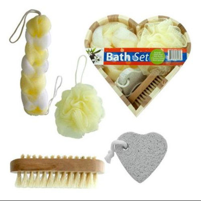 4-Pc Heart Boxed Bath Gift Set