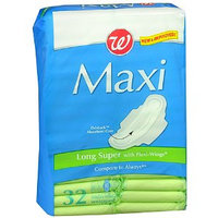 Walgreens Maxi Pads with Flexi-Wings Long Super