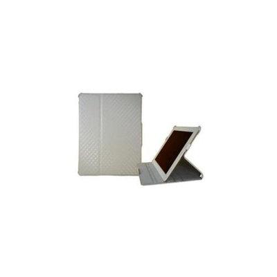 Grooving ID201-SH-001 Grooving Argyle Slim Folio case for iPad 2 White Tan