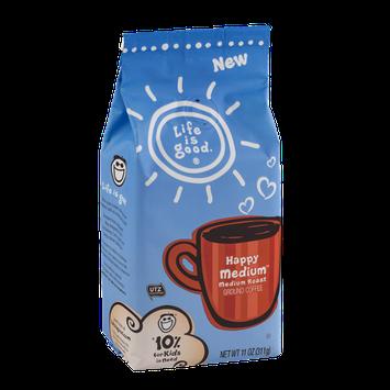 Life Is Good Ground Coffee Medium Roast Happy Medium